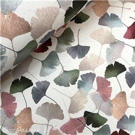 Papier italien motifs ginkgo