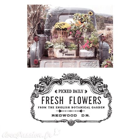 Transfert pelliculable Redesign Prima marketing décor Fresh Flowers