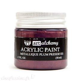 Peinture métallique lie de vin art alchemy plum