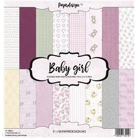 Papier scrapbooking assortiment 8fe recto verso 30x30 Baby Girl