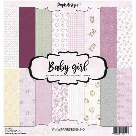 Papier scrapbooking assortiment 8fe recto verso 30x30 Baby Girl