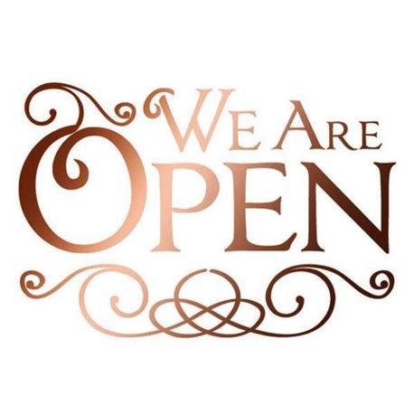 Pochoir plastique we are open 21x29.7cm