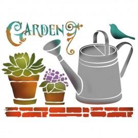 Pochoir plastique garden 15x20cm