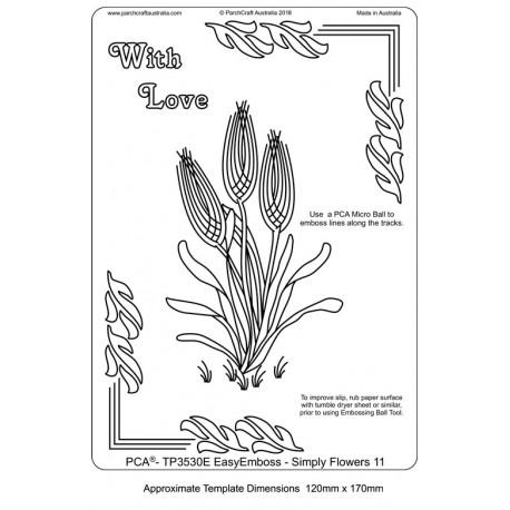 Template PCA gabarit traçage motifs fleurs n°11