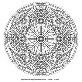 Template PCA gabarit traçage motifs napperon rond