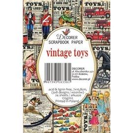 Etiquettes décoratives vintage toys 24p
