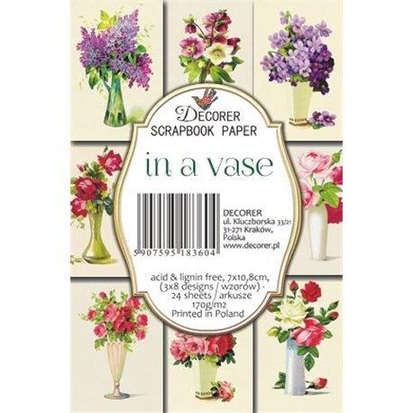 Etiquettes décoratives in a vase 24p