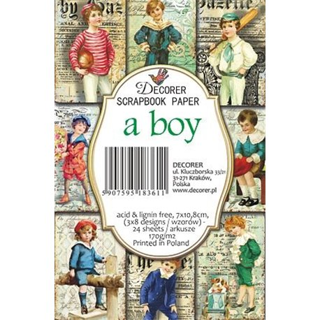 Etiquettes décoratives a boy 24p
