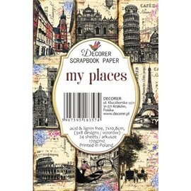 Etiquettes décoratives my places 24p
