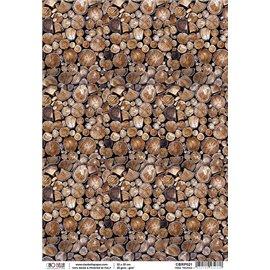 Papier de riz woodland tree trunks 22x32cm Ciao Bella