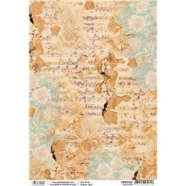 Papier de riz partitura 22x32cm Ciao Bella