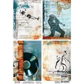 Papier de riz jazz cards 22x32cm Ciao Bella