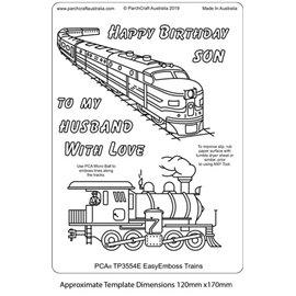 Template PCA gabarit traçage motifs trains