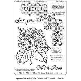 Template PCA gabarit traçage motifs hortensia
