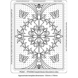 Template PCA gabarit traçage fleurs decorative lilies