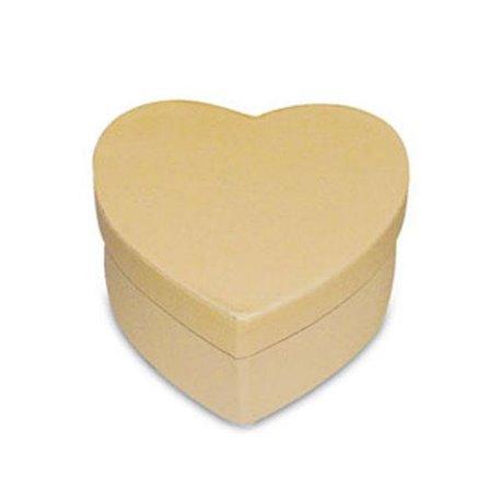 Objet brut boite coeur 10x10 carton marron