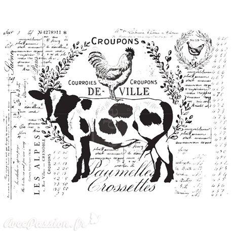 Transfert pelliculable Redesign Prima marketing décor Farm Delights
