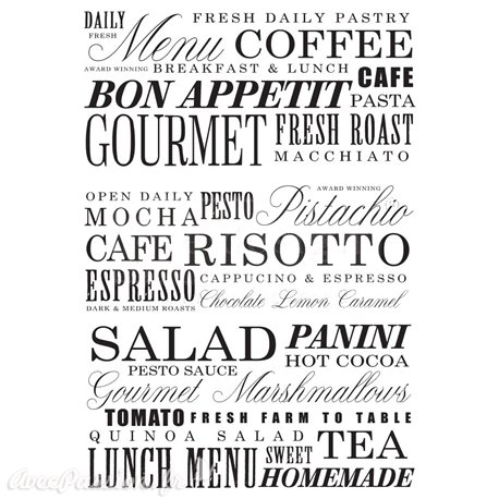 Transfert pelliculable Redesign Prima marketing décor Delicious Menu