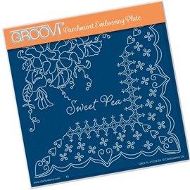Groovi gabarit traçage parchemin sweet pea and lace de Linda Williams
