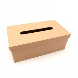 Objet brut boite à mouchoirs carton marron