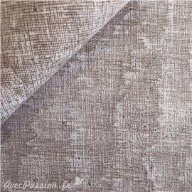 Papier à motifs toile taupe strié marron