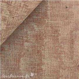 Papier à effet strié imitation toile kraft trait rouge