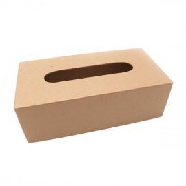 Objet brut boite à mouchoirs sans fond carton marron