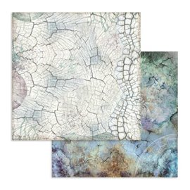 Papier scrapbooking réversible Stamperia cosmos écorce 30x30