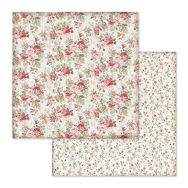Papier scrapbooking réversible Stamperia bourgeons 30x30