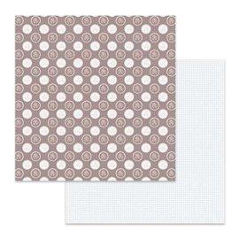 Papier scrapbooking réversible Stamperia double face à pois 30x30