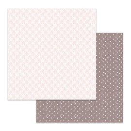 Papier scrapbooking réversible Stamperia texture fleurs blanches 30x30