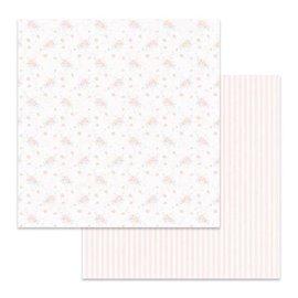 Papier scrapbooking réversible Stamperia double face rose 30x30