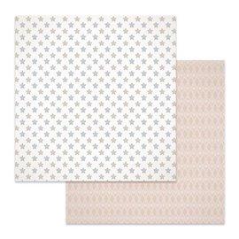 Papier scrapbooking réversible Stamperia étoiles 30x30