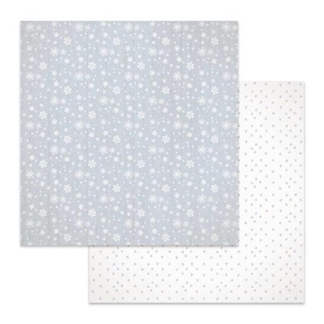 Papier scrapbooking réversible Stamperia flocon de neige 30x30