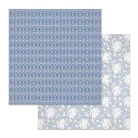 Papier scrapbooking réversible Stamperia texture fleurs 30x30