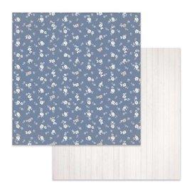 Papier scrapbooking réversible Stamperia fleurs 30x30