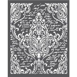 Pochoir décoratif arabesques 20x25cm 1 motif