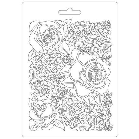 Moule souple soft mould Stamperia fin pour modelage roses