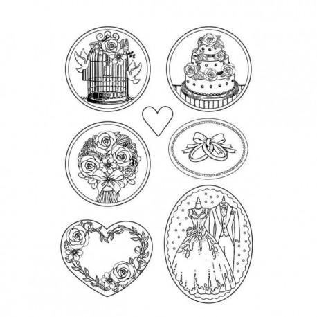 Moule décoratif thermoformé Stamperia mariage stampo