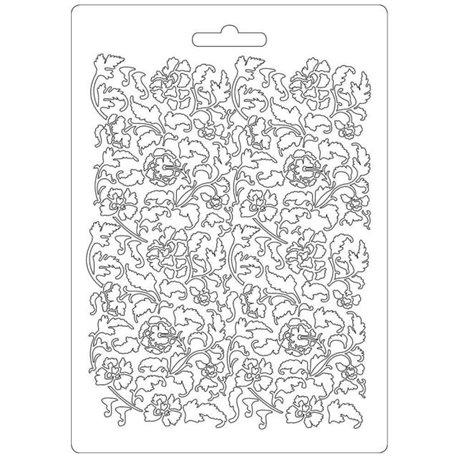 Moule souple soft mould Stamperia fin pour modelage ramage fleurs