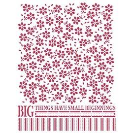 Pochoir plastique petites fleurs 15x20cm