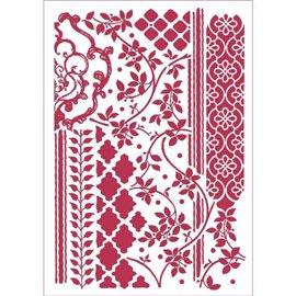 Pochoir décoratif fin tapisserie 21x29.7cm