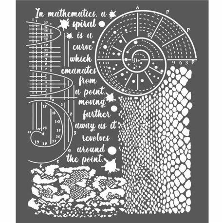 Pochoir décoratif cosmos python 20x25cm 1 motif