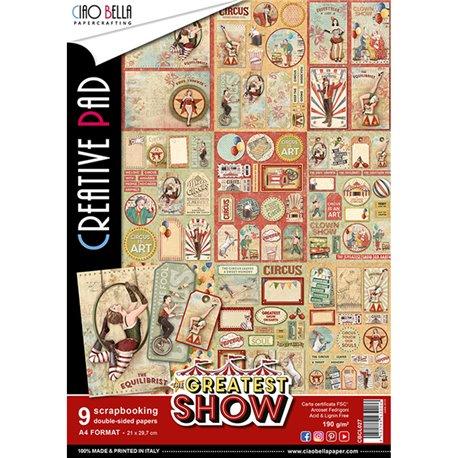 Papier scrapbooking A4 assortiment Ciao Bella the greatest show 9fe