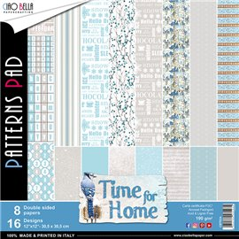 Papier scrapbooking assortiment Ciao Bella time for home 8fe 30x30