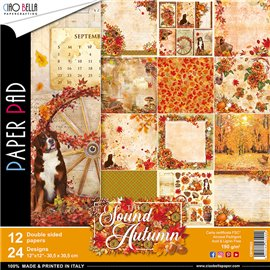 Papier scrapbooking assortiment Ciao Bella the sound of autumn 12fe 30x30