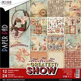 Papier scrapbooking assortiment Ciao Bella the greatest show 12fe 30x30