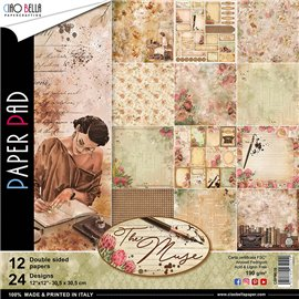 Papier scrapbooking assortiment Ciao Bella the muse 12fe 30x30