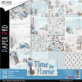Papier scrapbooking assortiment Ciao Bella time for home 12fe 30x30