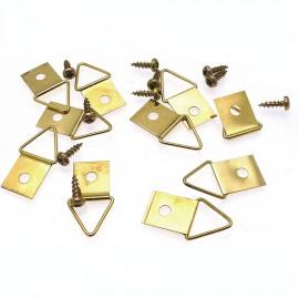 Attaches triangulaire 1 trou + 1 vis pour cadres x10